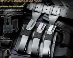 SAS Leather MP5 Magazine Pouch by TGC